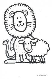 lion lamb coloring pages kids coloring