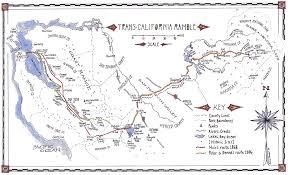 Map Of Yosemite A Trans California Ramble Re Walking John Muir U0027s 1868 Trip From