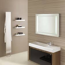 fantastic bathroom mirror ideas in silver accent with rectangle