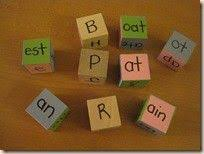 phonics tapping out sounds with lights and spelling with letter