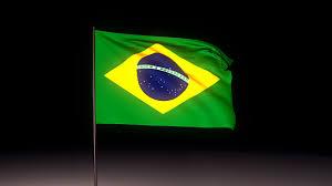 Flag Im Brasilien Flagge Im Wind Und Hymne Blender Simple Animation