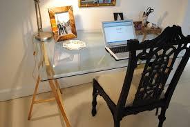 Glass Top Computer Desks For Home Furniture Inspiring L Shaped Glass Clear Top Computer Desk With