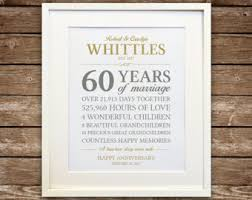 parents anniversary gift ideas 60th anniversary etsy