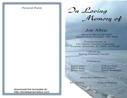 funeral program wording free funeral program templates find sle funeral program for