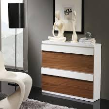 meuble egouttoir vaisselle meuble à chaussures 2 compartiments noyer et blanc meuble