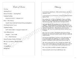 program for memorial service memorial service program template sle page excellent gallery