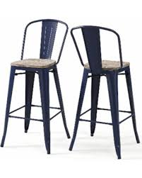 amazing deal on tabouret bistro wood seat navy blue bar stools