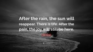 disney quote images walt disney quote u201cafter the rain the sun will reappear there
