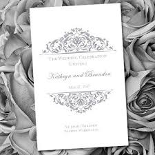 print your own wedding programs printable wedding program template grace gray make your own