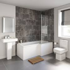 Bathroom Shower Suites Sale 1700x850mm Belfort Shower Bath Suite L Shaped Right Handed