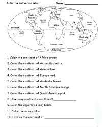 best photos of 7 continents and oceans worksheets world map