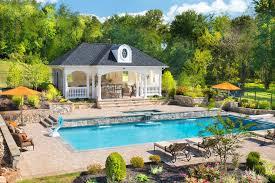 Backyard Cabana Ideas Dc Metro Pool Cabana Ideas Traditional With Waterfalls