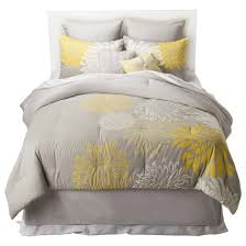 anya 8 piece floral print bedding set gray yellow target