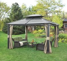 garden u0026 outdoor 12x14 gazebo hardtop gazebo gazebo kits lowes