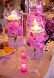 candle centerpiece floating candles in glass vases the bright ideas