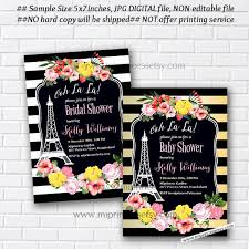 eiffel tower invitations oh lala eiffel tower invite baby shower bridal