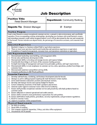 Resume For A Retail Job by 100 Bank Teller Description Resume Starting A Resume