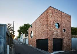 cool brick house built as secondary dwelling in melbourne curbed