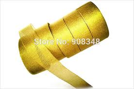 gold metallic ribbon 1 1 2 38mm gold metallic ribbon 60 polyamide 40 metallic in
