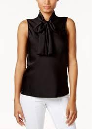 sleeveless tie neck blouse nine nine tie neck blouse casual shirts shop it to me