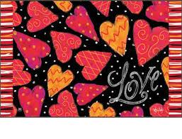 Holiday Doormat U0026 Outdoor Love Hearts Matmate Doormat 18 X 30