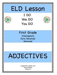 eld lesson plan for grade adjectives tpt thanksgiving