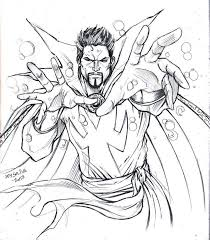 doctor strange coloring page as a great method of learning colors
