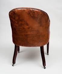 antique edwardian tub chair antique mahogany leather tub chair