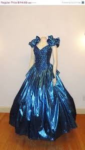 80s prom dress for sale sale vintage gown metallic blue 70s 80s prom dress zum zum