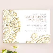 modern mehndi wedding invitations by condouris minted