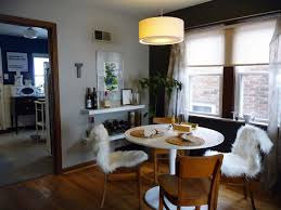 simple dining room lighting black chrome legged wooden dining