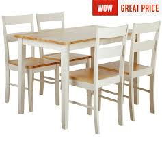 Buy Collection Chicago Solid Wood Table   Chairs Two Tone At - Argos kitchen tables