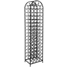 tall metal wine rack good storage for small space home interior