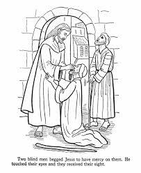 Was Bartimaeus Born Blind Appealing Jesus Heals Blind Bartimaeus Coloring Page Blind