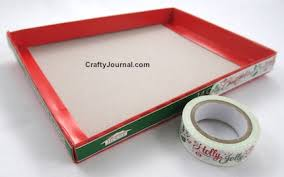 christmas card box into gift box u2013 idea 2
