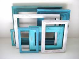 Turquoise Wall Decor Aqua White Picture Frames Gallery Of By Greenfoxstudio