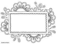 free doodle name flowered frame doodle bebe flower frame