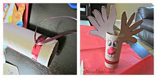handprint reindeer toilet paper roll craft for kids rudolph