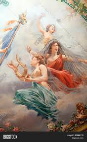 french paintings on theater ceiling image u0026 photo bigstock