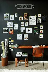 Black Desk And Chair 25 Gorgeous Home Offices With Black Walls Digsdigs