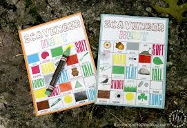 summer camp scavenger hunt with free printables design dazzle