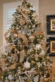 gold christmas tree balsam hill s white and sparkle glitter ribbon tree
