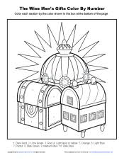 The Wise Men S Gifts Bible Coloring Pages For Kids Wise Worship Coloring Page