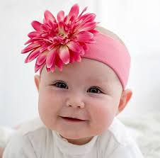 baby hairbands candy pink flower baby headband toddler headbands
