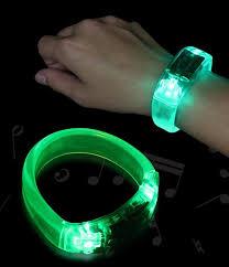 bracelet led images Sound activated led light up bracelet bewild jpg