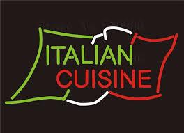 enseigne de cuisine enseigne au néon personnalisé conseil italien cuisine menu