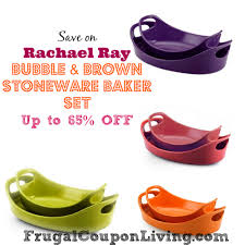 rachael ray thanksgiving rachael ray bubble and brown stoneware baker set 65 off retail