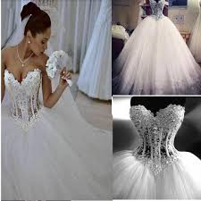 corset wedding dress sparkly gown corset wedding dress with beading