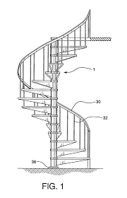 patent us20070000191 spiral staircase kit google patents