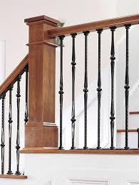 staircase balusters images wood staircases with iron balusters